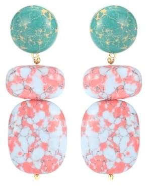 Lele Sadoughi Boulder Drop marble earrings