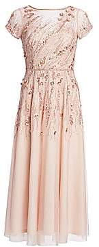 Theia Women's Embellished Tulle Cocktail Dress