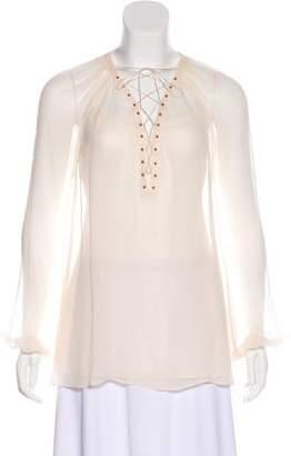 Rachel Zoe Silk Long Sleeve Blouse
