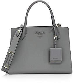 Prada Women's Large Monochrome Leather Tote