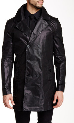 Star USA By John Varvatos Coated Double Breasted Trench Coat $598 thestylecure.com