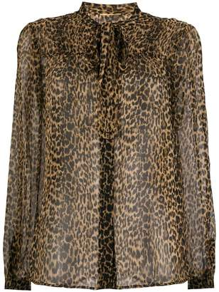 Saint Laurent leopard printed blouse
