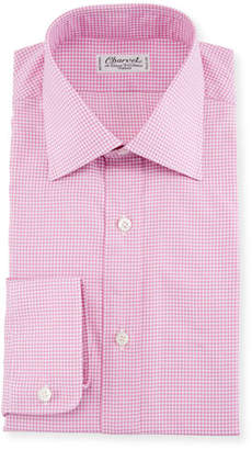 Charvet Fine Tattersall Dress Shirt, Pink