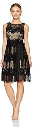 Tahari by Arthur S. Levine Women's Petite Size Sleeveless Fit and Flare Lace Dress