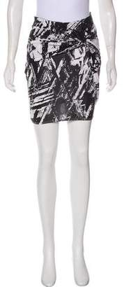Helmut Lang Jersey Mini Skirt