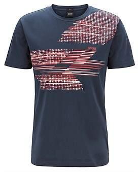 HUGO BOSS Slim-Fit T-Shirt With Geometric Multicoloured Artwork