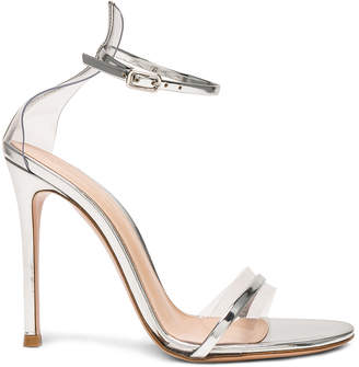 Gianvito Rossi Leather Plexi G-String Heels