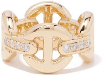 Hoorsenbuhs Quad-Link Ring with Diamonds