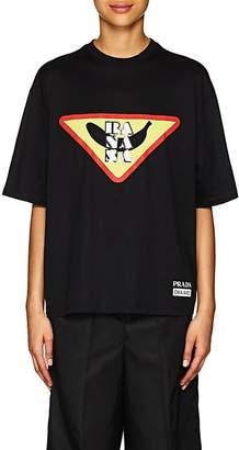 Prada Women's Banana Cotton Jersey T-Shirt