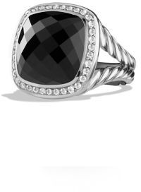 David Yurman Albion Ring with Black Onyx and Diamonds $1,475 thestylecure.com