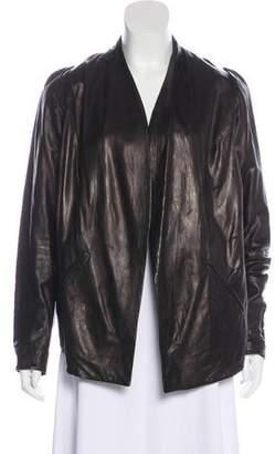 Zero Maria Cornejo Long Sleeve Leather Blazer