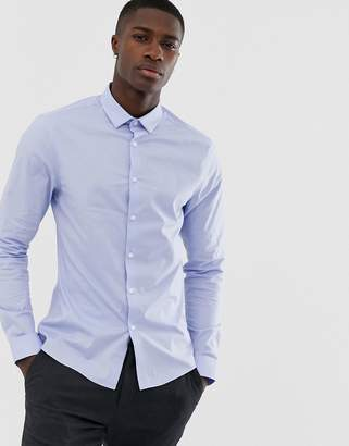 Asos Design DESIGN skinny shirt in blue