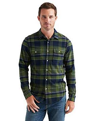 Lucky Brand Men's Long Sleeve Clean Two Pocket Button UP Workwear Shirt