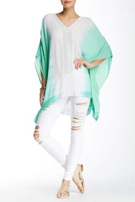 Green Dragon V-Neck Tie Dye Cover-Up Tunic $78 thestylecure.com
