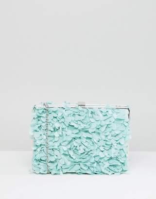 Chi Chi London Floral Applique Clutch Bag