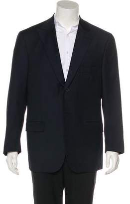 Isaia Pinstriped Wool Blazer