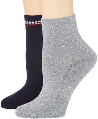 MIXIT Mixit 2 Pk Rayon From Bamboo Pillow Sole 2 Pair Quarter Socks - Womens