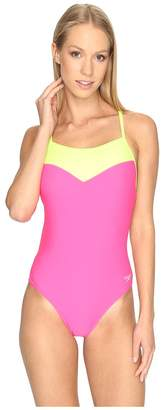 Speedo Illusion Heart One-Piece Women's Swimsuits One Piece