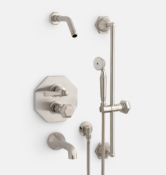 Rejuvenation Canfield Thermostatic Tub & Shower Set With Handshower