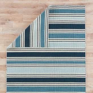 Beachcrest Home MacAdam Hand-Woven Blue Area Rug Rug