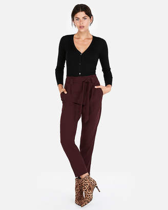 Express Fitted V-Neck Ribbed Cardigan