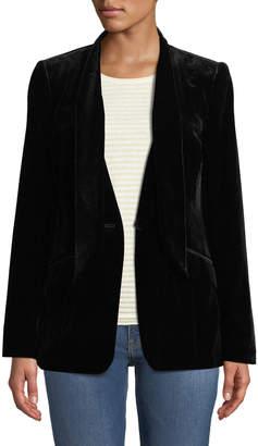 Frame Velvet Tie Single-Button Jacket