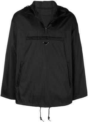 Prada Hooded nylon windbreaker jacket