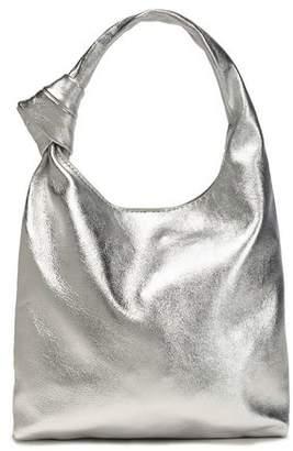 Loeffler Randall Knotted Metallic Leather Shoulder Bag
