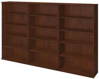 Bush Business Furniture Storage Wall Oversized Set Bookcase