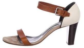 Proenza Schouler Canvas Ankle Strap Sandals
