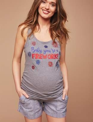 Motherhood Maternity Secret Fit Belly Roll Hem Maternity Cargo Shorts