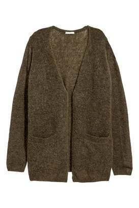 H&M Mohair-blend Cardigan - Dark gray melange - Women