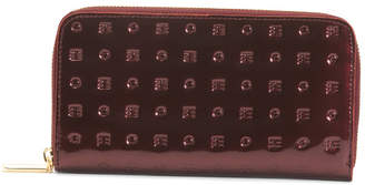 Made In Italy Patent Leather Zip Around Wallet