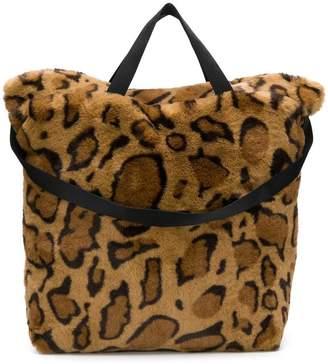 Bellerose leopard print shopper tote