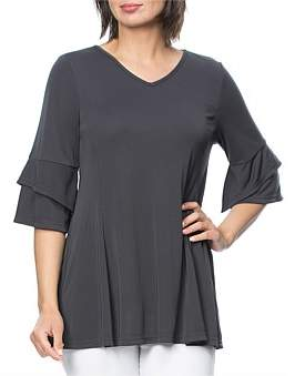 Hammock and Vine Dry Handle V Neck Jersey Tunic