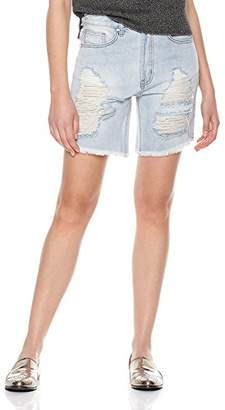 Parker Lily Women's Casual Denim Destroyed Bermuda Shorts Jeans