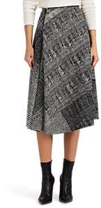 Jason Wu Women's Abstract-Plaid Virgin Wool Asymmetric Midi-Skirt