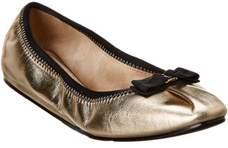 570b1fbdd Salvatore Ferragamo My Joy Foldaway Metallic Leather Ballet Flat