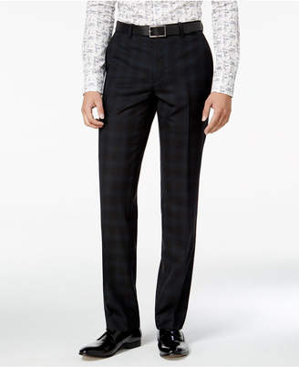 Bar III Men's Slim-Fit Blackwatch Plaid Tuxedo Pants, Only at Macy's $175 thestylecure.com