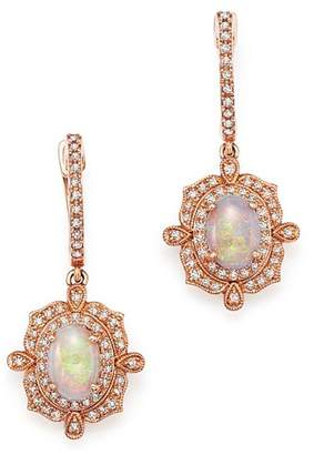 Bloomingdale's Opal and Diamond Antique Inspired Drop Earrings in 14K Rose Gold - 100% Exclusive
