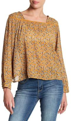 Kensie Jeans Long Sleeve Print Blouse