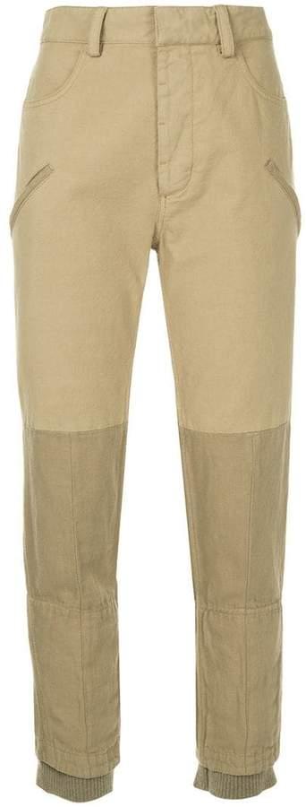 binding detail trousers