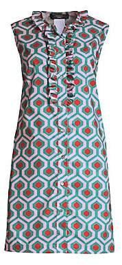 Max Mara Women's Curvato Geometric Print Sleeveless Tunic