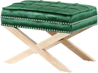 Hyde Park Home Emerald & Oak Vanessa Ottoman Stool