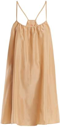 LOUP CHARMANT Classic scoop-neck silk-satin slip dress