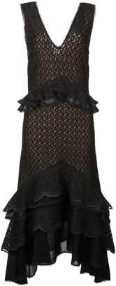 Jonathan Simkhai knitted ruffle tiered dress