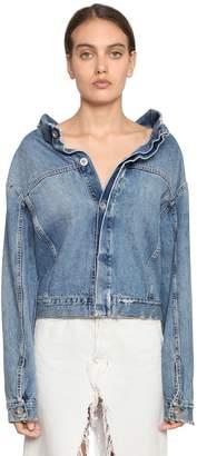 Unravel Deconstructed Cotton Denim Jacket