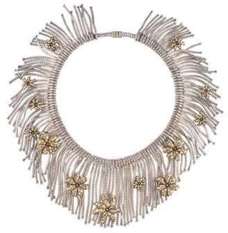 John Hardy Two-Tone Ayu Dot Jasmine Flower Fringe Necklace