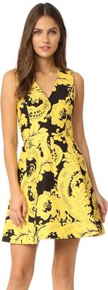 alice + olivia Nicolette V Neck Flare Dress $440 thestylecure.com