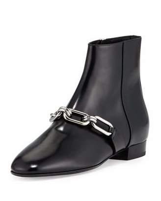 Michael Kors Lennox Leather Link Bootie, Black $650 thestylecure.com